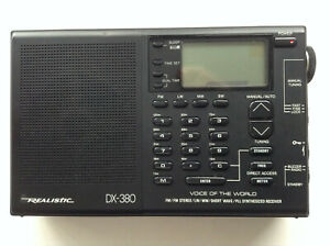 Realistic DX-380 AM/FM/LW/MW/Short Wave - PLL Synthesized Receiver .