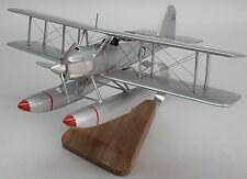 Fairey Seafox Floatplane WWII Airplane Desk Wood Model Small New