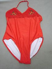 GIRLS SAND N SUN BATHING SUIT SWIMSUIT  RED  SIZE XL 14 - 16