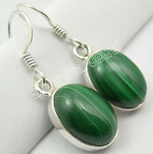 Jewelry & Watches Gemstone Glorious Natural Malachite Solid 925 Sterling Silver Handmade Earring Jewelry In-2180