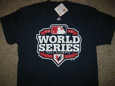 NWT NEW 2012 World Series Fall Classic T-Shirt MLB Majestic L Giants Baseball