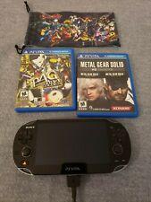 Sony PlayStation Vita 3GB Black (Wi-Fi + 3G) + 3x Games - Persona 4, MGS HD