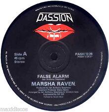 "12"" - Marsha Raven - False Alarm (HI NRG) NUEVO - NEW, STOCK STORE LISTEN"