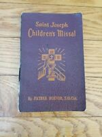 Vintage Saint Joseph Children's Missal Catholic Mass H. Hoever