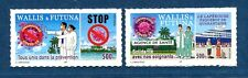 Paire Timbres Wallis et Futuna adhésif 2020 stop C O V I D  tirage limité