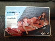 """QUEST 2 PERSON LIFEBOAT INFLATABLE RIVER RAFT 71' x 37.5"""""""