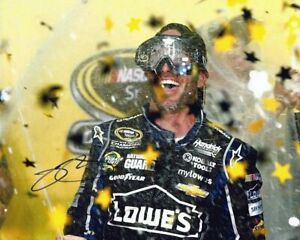 AUTOGRAPHED 2013 Jimmie Johnson #48 Oakley Goggles 6X CHAMPION Signed Photo COA