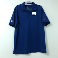 Men's Nike Dri Fit On Field New York Giants Blue S/S Polo Shirt Size Medium