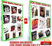 TATTOO eBook VORLAGEN das MEGAPAKET 1 & 2 Shop TATTOOS Tätowierungen 1A E-LIZENZ