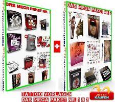TATTOO ebook modelli il megapaket 1 & 2 SHOP tatuaggi tatuaggi 1a e-licenza