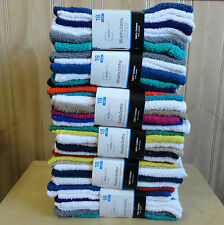 Wholesale 108 PC=6PACK Mainstays 100%Cotton Washcloth Collection Assorted Colors