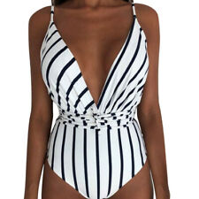Women Sexy Monokini Swimsuit Backless Bodysuit Brazilian High Waist Swimwear LO