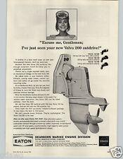 1965 PAPER AD Eaton Dearborn Marine Engine Volvo 110 HP 100 HP Inboard Motor