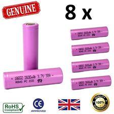 8 x Rechargeable 2600 mAh Batteries 18650 3.7V High Drain Li-Ion Vape Battery UK