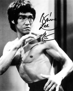 "Bruce Lee SIGNED AUTOGARPHED 10"" X 8"" REPRODUCTION PHOTO PRINT"