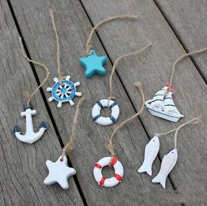 Mediterranean Style Decor Decor Anchor Fish Lifebuoy crafts wall Decor Pendant