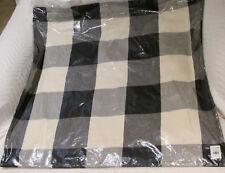 Pottery Barn BUFFALO CHECK PLAID Pillow Cover 24 X 24 NWT~Christmas~ Fall- Black