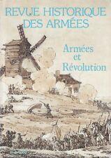 REVUE HISTORIQUE DES ARMÉES N° 175 (JUIN 1989) ARMÉES ET RÉVOLUTION