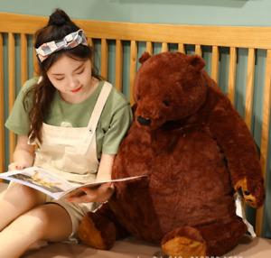 Children gift Giant Simulation DJUNGELSKOG BearTeddy Toy Bear Brown Animal Dolls