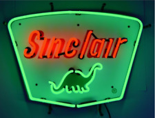 "New Sinclair Dinosaur Dino Motor Oils Gas Light Lamp Neon Sign 19""x15"""