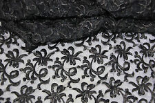 Vintage Black Lace Scarf Shawl (1950's approx) - Beautiful