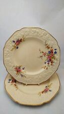 """Pair of Crown Ducal Marie Florentine Shape 10"""" Dinner Plates - Crazing"""