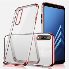 Clear Gel para Samsung Galaxy A10 A20E A40 A50 A70 S10 Metallic cubierta del teléfono