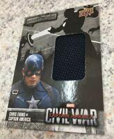 2016 Captain America Civil War costume card BB-AM UPPER DECK RARE 2016 AVENGERS