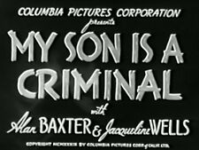 MY SON IS A CRIMINAL (1939) DVD ALAN BAXTER, JACQUELINE WELLS