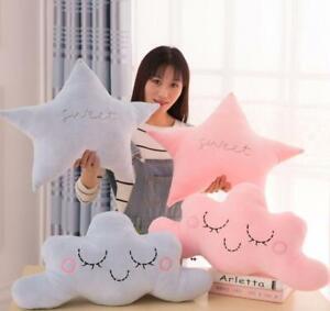 Creative Star Soft Plush Home Decor Moon Pillow Cases Cushion Xmas Baby Gift New