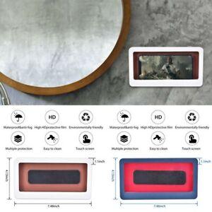 Wall Mounted Shower Phone Holder Bathroom Case Anti-Fog Waterproof Box