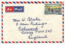 SS145 1970s FALKLANDS to GB Surrey Richmond Commercial Airmail {samwells-covers}