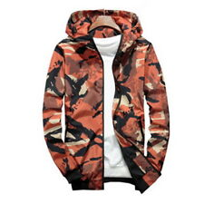 UK New Men Camouflage Military Jacket Bomber Tactical Windbreaker Hooded Jacket