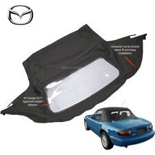 Mazda Miata Convertible Soft Top & Plastic Window 1990-2005 Black Cabrio