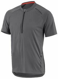 New Mens Louis Garneau West Branch Cycling Jersey Shirt Asphalt Gray 1020865