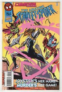 Amazing Scarlet Spider #2 (Dec 1995 Marvel) Cyberwar [Spider-Man] Mark Bagley v