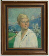 Adele von Finck / Original Öl auf Leinwand - handsigniert