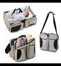 Multi-function Fashion Mummy maternity nappy diaper bag 3in1 Portable travel bag