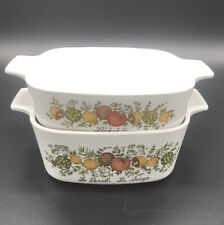 Vintage Corning Ware Spice of Life A-1-B and A-1-1/2-B Casserole Dishes