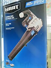 Hart Turbo Fan Blower Kit Hlbl021Vnm 40v Cordless System 280 Cfm 120 Mph
