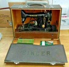 Vintage Singer 99K Electric Sewing Machine with Attachments & Instructions 1953