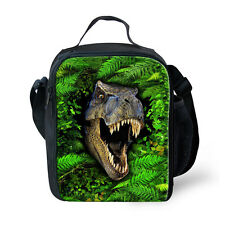 Dinosaur Insulated Lunch Box Sandwich Cooler Bag Back to School Kids Boys Green