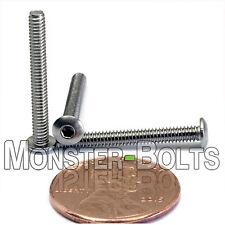 "#3-48 x 7/8"" – QTY 10 – Stainless Steel BUTTON HEAD Socket Cap Screws A2-70 18-8"