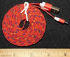Red Braided 6FT Charging Cable for IPhone 5, 5S, 6, or 6+....Buy It Now Special