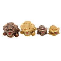 Feng Shui Toad Money Lucky Fortune Wealth Chinese Golden Frog Toad Coin G