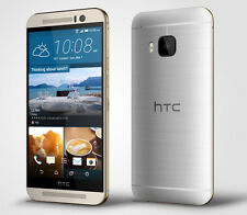 "New HTC One M9 AT&T Unlocked 4G LTE 32GB 5"" Android Smartphone Gold on Silver"