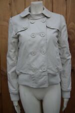 ROXY LIFE Ladies Cream/Beige Collared Button Front Long Sleeve Jacket UK12, M
