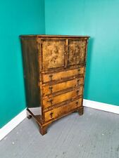 An Antique Early 20th Century Burr Walnut Cocktail Cabinet Cupboard ~Delivery Av