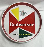 "Vintage Budweiser King Of Beers Metal Tin Round Serving Tray 13"""