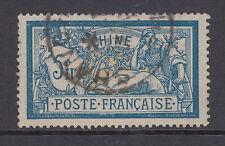 France, China Sc 44 used 1902 5fr dark blue & buff Merson, Shanghai cancel